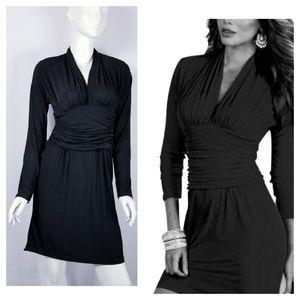 Boston Proper Black Slip Dress Dolman Long Sleeve
